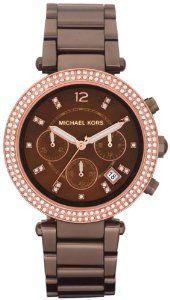 Michael Kors Parker Chronograph Chocolate Dial Ladies Watch MK5578: Watches: Amazon.com