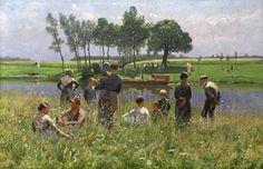 1887 Le Pique Nique ~ Emil Claus ~ (1849-1924)
