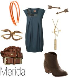 Merida fashion inspired from Disney and Pixar's Brave.