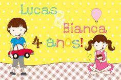 Lucas e Bianca - convite por Marilia Cichini www.mariliacichini.com.br
