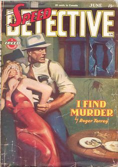 HUGH JOSEPH WARD - I Find Murder by Roger Torrey - June 1945 Speed Detective