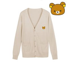 Want a Rilakkuma Cardigan? - Perfect for any Rilakkuma or bear fans! - While Supplies Last! Please allow 4-6 weeks for shipping due to high demand Item Type: Cardigan Fabric Type: Woolen Collar: V Nec