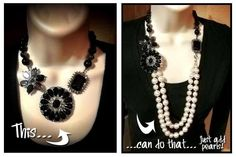 Crochet Necklace Versatility! Thanks to the jeweler who created it ;)  ~ #PremierDesigns jewelry #weheartpremier
