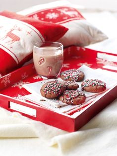 recette biscuit de Noel chocolat vermicelles multicolores