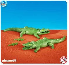 Playmobil Alligators by Playmobil. $14.99. Playmobil 7894 2 Large Alligators with 2 Small Alligators. This item is part of the Direct Service range. This range of products are intended as accessories for or additions to existing Playmobil sets. For this reason these items come in clear plastic bags or brown cardboard boxes instead of a colorful retail box.. 7894 2 Large Alligators with 2 Small Alligators Please Note: This item is part of the Direct Service range. Th...