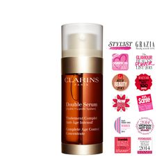 Discover the New Clarins Double Serum, a Complete Age Control Concentrate formulated to help work on the 5 vital functions of the skin. Facial Serum, Anti Aging Serum, Beauty Emporium, Top Makeup Artists, Beauty Supply Store, Beauty Awards, Skin Care Treatments, Younger Looking Skin, Beauty Inside