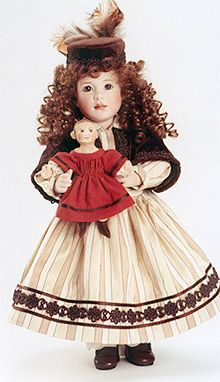 Ingrid and her Izannah Walker Doll, by Wendy Lawton