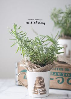 A $2 mug looks much pricier (and lot more personal) when you add your friend's initial in a glam gold decal. Fill with lavender or succulents to make this a double-duty gift: desk decor now, cocoa cup later. Click through the gallery from more homemade Christmas gift ideas.