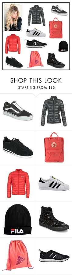 """""""Must have !"""" by spartoouk ❤ liked on Polyvore featuring Vans, EA7 Emporio Armani, NIKE, Fjällräven, adidas, Fila, Converse and New Balance"""