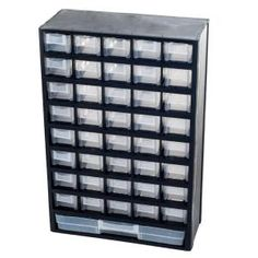 Shop for 41 Compartment Hardware Storage Box by Stalwart. Get free delivery On EVERYTHING* Overstock - Your Online Tools Shop! Get in rewards with Club O! Craft Storage Ideas For Small Spaces, Small Storage, Storage Bins, Tool Storage, Storage Rack, Garage Storage, Plastic Storage Cabinets, Plastic Drawers, Tool Cabinets