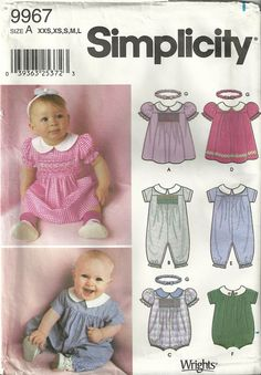 simplicity baby patterns - Google Search