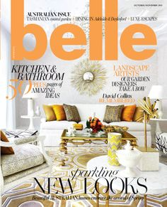 Belle Magazine Oct/Nov Online designer rugs, prestigious designer floor rugs and runners. Belle Magazine, David Collins, Coastal Gardens, Daylesford, Australian Homes, House And Home Magazine, Make It Simple, Interior Design, Design Interiors