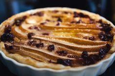 schnelle & einfache Blätterteig-Marzipan-Birnen-Tarte.