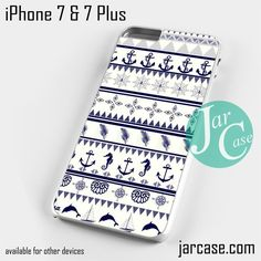 Anchor in aztec art Phone case for iPhone 7 and 7 Plus