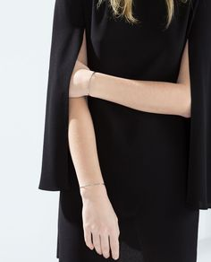 Image 6 of CAPE SLEEVED STRAIGHT DRESS from Zara