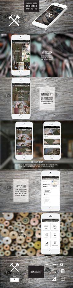 Companion Mobile App Design for a DIY American Made Magazine.