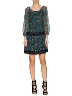 Flower Berry Chiffon Dress by Anna Sui at Gilt
