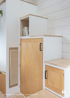"""The Beautiful 220-sqft """"Athena"""" Tiny House by WoodyWay Houses Tiny House on wheels, small space, DIY, tiny house ideas, tiny house, furniture plans, organization, tiny house plans,bedroom ideas, tiny house interior, comfortable seating, living room table, tiny house living, tiny house family, tiny house cost, functional storage, functional living area, transforming furniture, stairs, storage"""