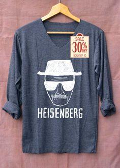 Breaking Bad Shirt Heisenberg Drawing Shirt Heisenberg Shirts Long Sleeve Unisex Adults Size S M L by topsfreeday on Etsy