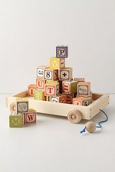 Love this block set! Bought it for Emma, but from Amazon so it's without the wagon and cost much less than this one.