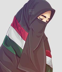 Art Girl Drawing Beautiful Faces 48 Ideas For 2019 Anime Muslim, Muslim Hijab, Hijab Niqab, Hijab Dp, Hijab Chic, Girl Hijab, Muslim Girls, Muslim Women, Girl Cartoon