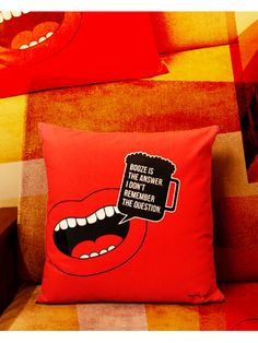 Buy BOOZE IS THE ANSWER CUSHION COVER • The Big Bag Theory