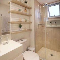 Banheiro clean e lindo by Amei❣ {HI} Sna Bathroom Design Luxury, Bathroom Design Small, Bathroom Layout, Modern Bathroom, Home Interior Design, Master Bathroom, Minimal Bathroom, Marble Bathrooms, Small Bathrooms