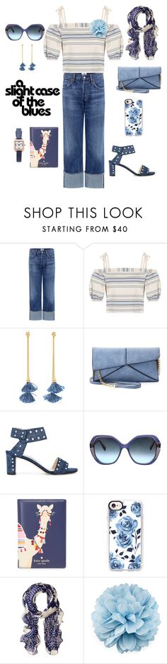 """""""And I Couldn't Be Happier"""" by when-wear-what ❤ liked on Polyvore featuring Citizens of Humanity, Lemlem, Ben-Amun, Mellow World, Jimmy Choo, Oscar de la Renta, Kate Spade, Casetify, Lauren Ralph Lauren and Gucci"""