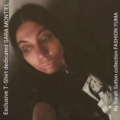 Camiseta exclusiva fedicada a SARA MONTIEL by Sarah Sutton #SaraMontiel #fashion #moda #tshirt #fashionMadrid #fashionlondon #Madrid #camiseta