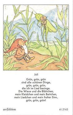 Fleißbildchen - Original Ida Bohatta - ars 61.2163 - Juli                                                                                                                                                                                 Mehr