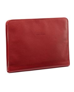 LONGCHAMP SMALL LEATHER GOODS レッド  Veau FoulonnePCケース(M)
