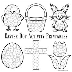 These Easter dot activity worksheets provide a fun low prep mess free Easter activity for toddlers and preschoolers. They work great with Do a Dot Markers. Easter Activities For Toddlers, Toddler Crafts, Preschool Crafts, Preschool Plans, Time Activities, Preschool Printables, Kid Crafts, Easter Arts And Crafts, Easter Projects
