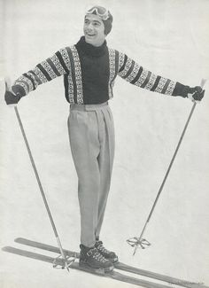 Mens 1957 Knit Sweater Pattern