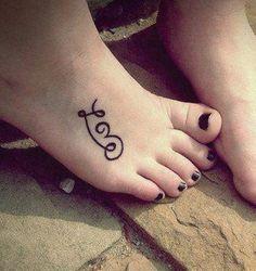 Cute Love Tattoos on Foot