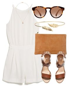 """""""Untitled #4558"""" by laurenmboot ❤ liked on Polyvore featuring MANGO, American Apparel, Meadowlark, Khai Khai and H&M"""
