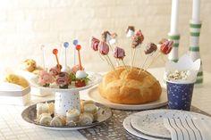 紙皿&紙コップでケーキスタンド