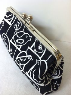 Black and White Frame Clutch Purse by TWOGREENPARROTS on Etsy, $45.00