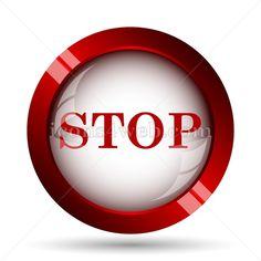 Stop website icon. Stock vector illustration for creative professionals. Unique button for design projects. Graphic Projects, Design Projects, Design Ideas, Vector Design, Logo Design, Emoji Photo, Web Design Icon, Find Icons, Website Icons