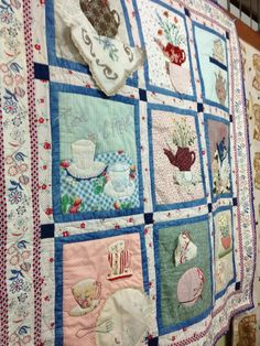 Tea pot applique tapestry Classes by Renee