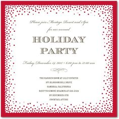 Corporate Holiday Party Invitations Luxe Bubbles - Front : Dijon