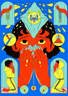 Illustration by Cristina Daura Forest Illustration, Graphic Illustration, Satirical Illustrations, Psychedelic Art, Magazine Art, Art Inspo, New Art, Illustrators, Cool Art