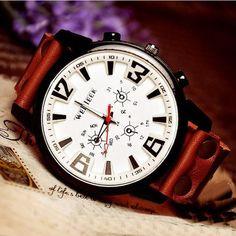 Follow me!!!   Stan vintage watches — Handmade Vintage Leather Bangle Studded Bracelet Quartz Wrist Watch (WAT018) #handmade  watches