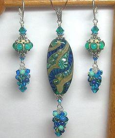 Handmade Artisan Lampwork Glass Earrings by GlitterbugOriginals, $98.00