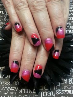 Day 156: Bright Colors Nail Art - - NAILS Magazine