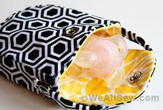#bernina #how to make a pacifier pocket #binky bag #diy baby gift #diy pacifier pocket #free sewing tutorial #free sewing project #weallsew #ashley johnston #make it & love it sewing blog
