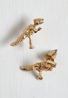 """""""Better, Fossil, Stronger Earrings."""" Dinosaurs!"""