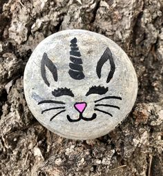 Painted Rock Unicorn Cat #rockvisaliawithkindness