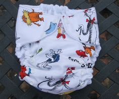 Dr. Seuss diaper...the company that makes it is called Monkey Bum!