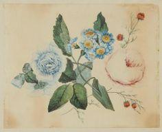 Untitled (Blue and Pink Peonies) JOHN HANCOCK (ENGLISH, b. 1757–UNKNOWN) C. 1825