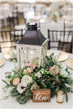 Lantern Centerpieces Luxury Head Table Centerpieces Spring Wedding Flowers White and greenery wedding bouquets White roses and eucalyptus Romantic bridesmaid flowers Beau. Lantern Centerpiece Wedding, Wedding Lanterns, Wedding Table Centerpieces, Centerpiece Ideas, Centerpiece Flowers, Spring Wedding Decorations, Table Decor Wedding, Small Centerpieces, Lanterns For Weddings